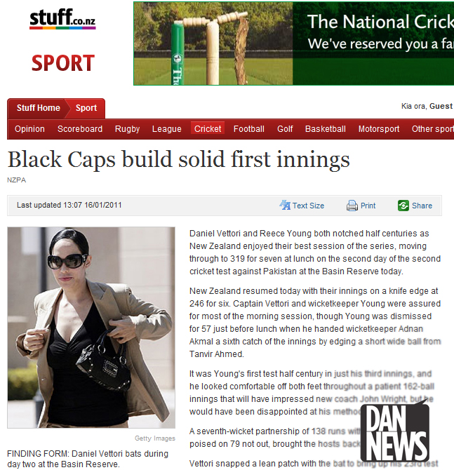 Web Blooper: Daniel Vettori image fail
