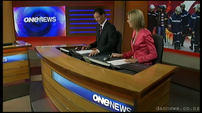 Blooper: One News not quite in sync