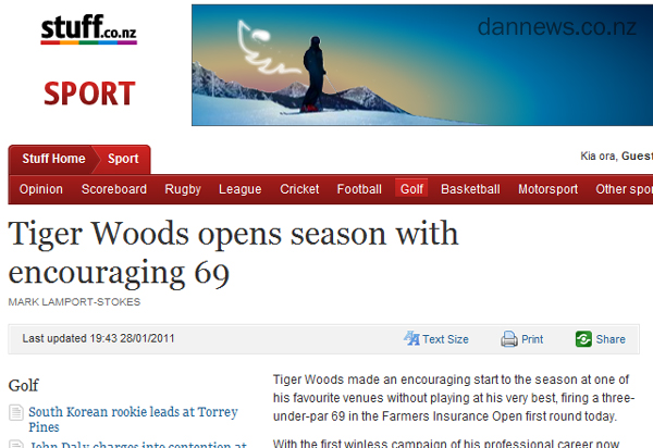Headline fail or win?  Tiger Woods does what?!