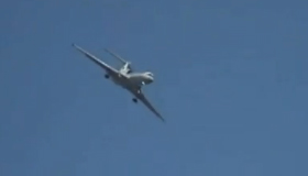 Out of control aircraft caught on camera