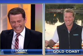 "Blooper Watch: ""Awkward"" duck on the Today Show"