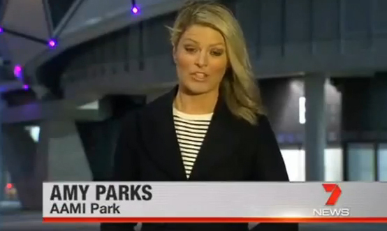 Video:  Amy Parks joins us now from AAMI Park