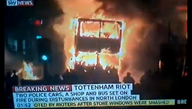 VIDEO: Rioting in the streets of Tottenham