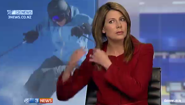Blooper: 3 News ad break antics make it to website
