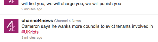 Web blooper: Something on the mind Channel 4 News?