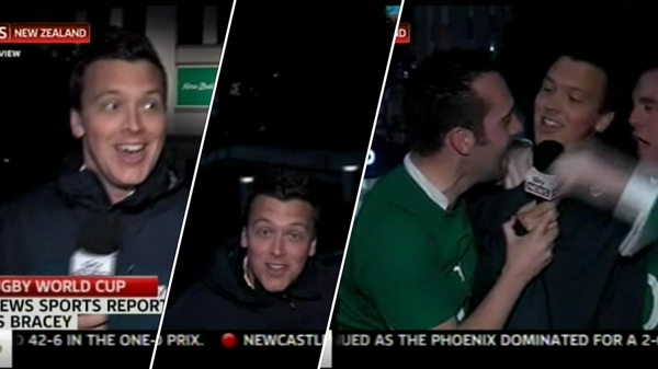 Blooper Watch: Sky News reporter tackled live on air