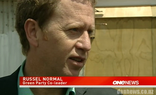 Whoops! Green Party co-leader Russel who?