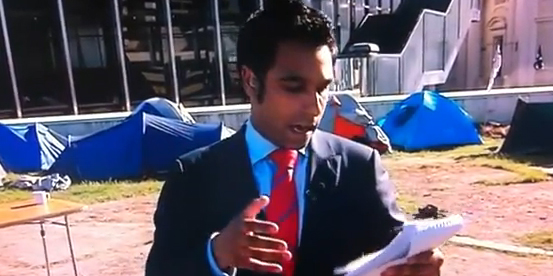 Video: Arrun Soma's awkward live cross