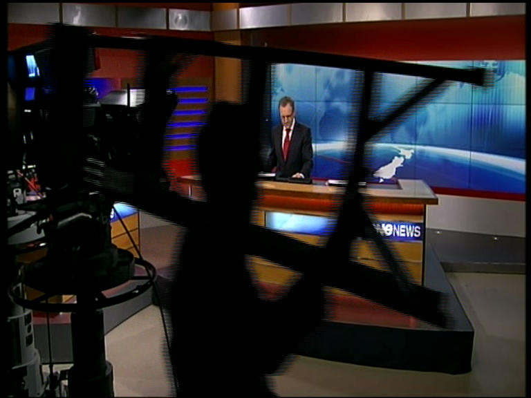 Video: It looks like they are working around the clock on the new One News set….