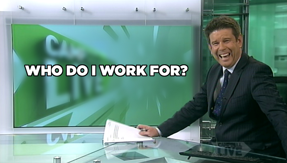 Blooper Watch: John Campbell forgets which network he is on