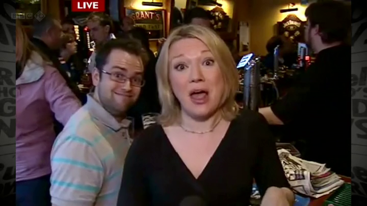 Blooper Watch: This is why you don't live cross in to a bar….