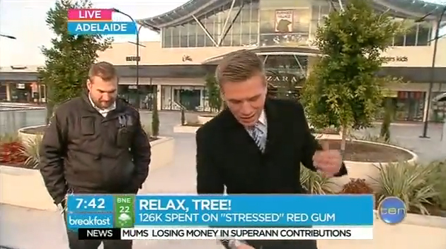 "Blooper Watch: ""Sorry mate, I'm just live!"" Security guard takes over live cross"