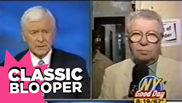 CLASSIC BLOOPER: Anchor vs Reporter