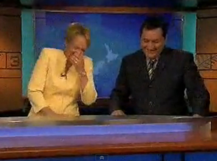 Classic Blooper: Hilary Barry's on air snort