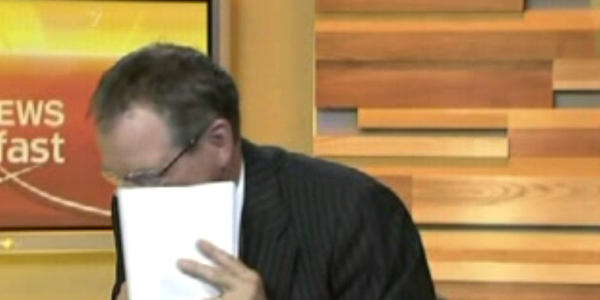"News Blooper: Paul henry ""looking up"" Rhonda"