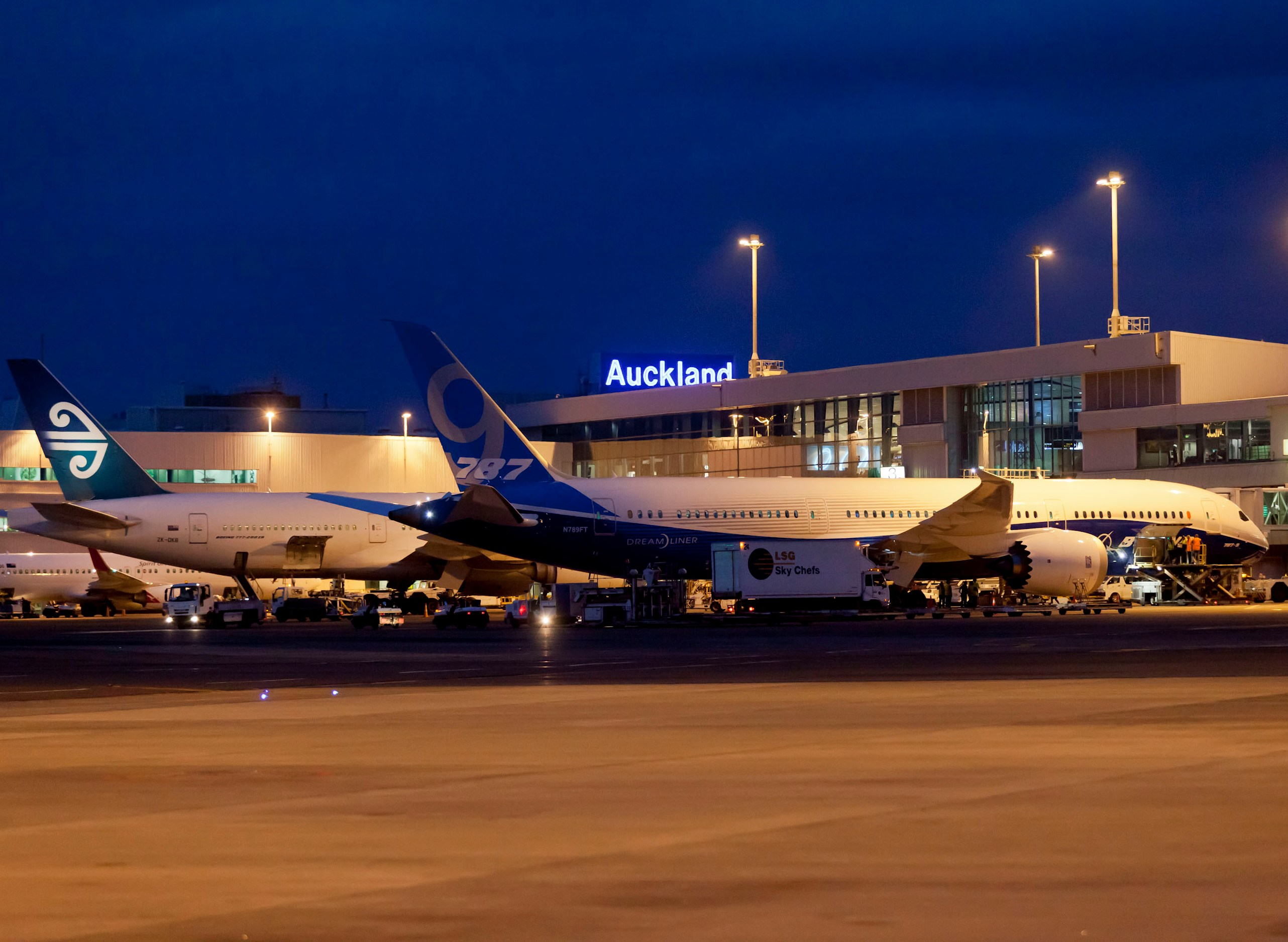 Boeing 787-9 Dreamliner International Debut, Auckland New Zealand