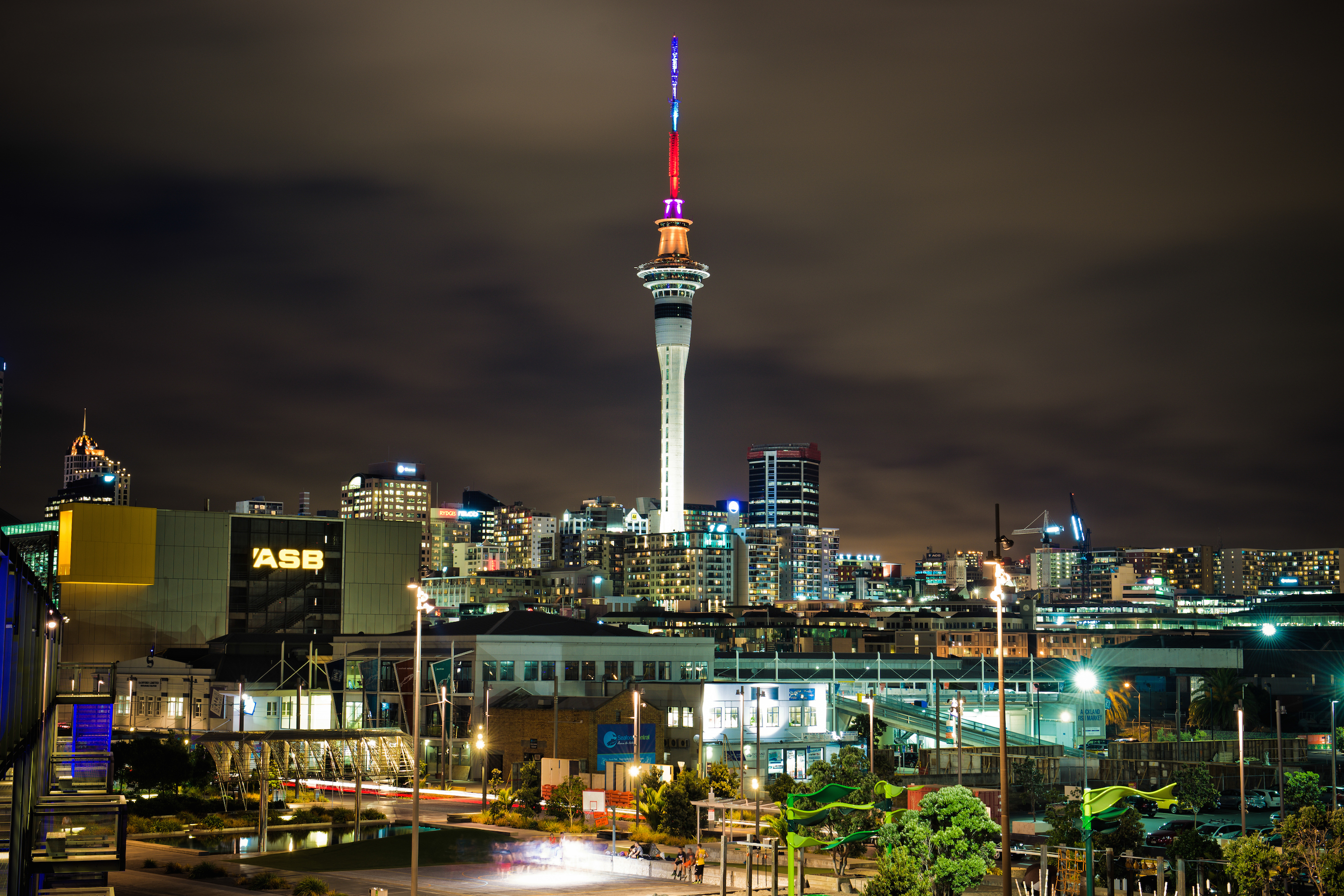 Photos: Sky Tower lights up for Child Cancer Foundation ...