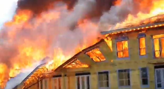 VIDEO: Amazing eyewitness video of last minute fire rescue