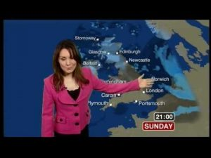 BBC Weather Blooper:  Caught on the phone