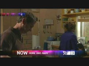 Blooper: Hilary Barry on Home and Away?