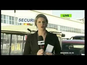 Blooper: Security guard takes on live cross