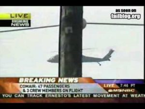 News Blooper: Black C*** Helicopter