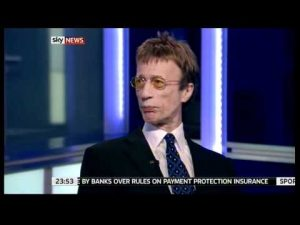 Stayin Alive:  Sky News anchor forgets Maurice Gibb is dead during interview with Robin
