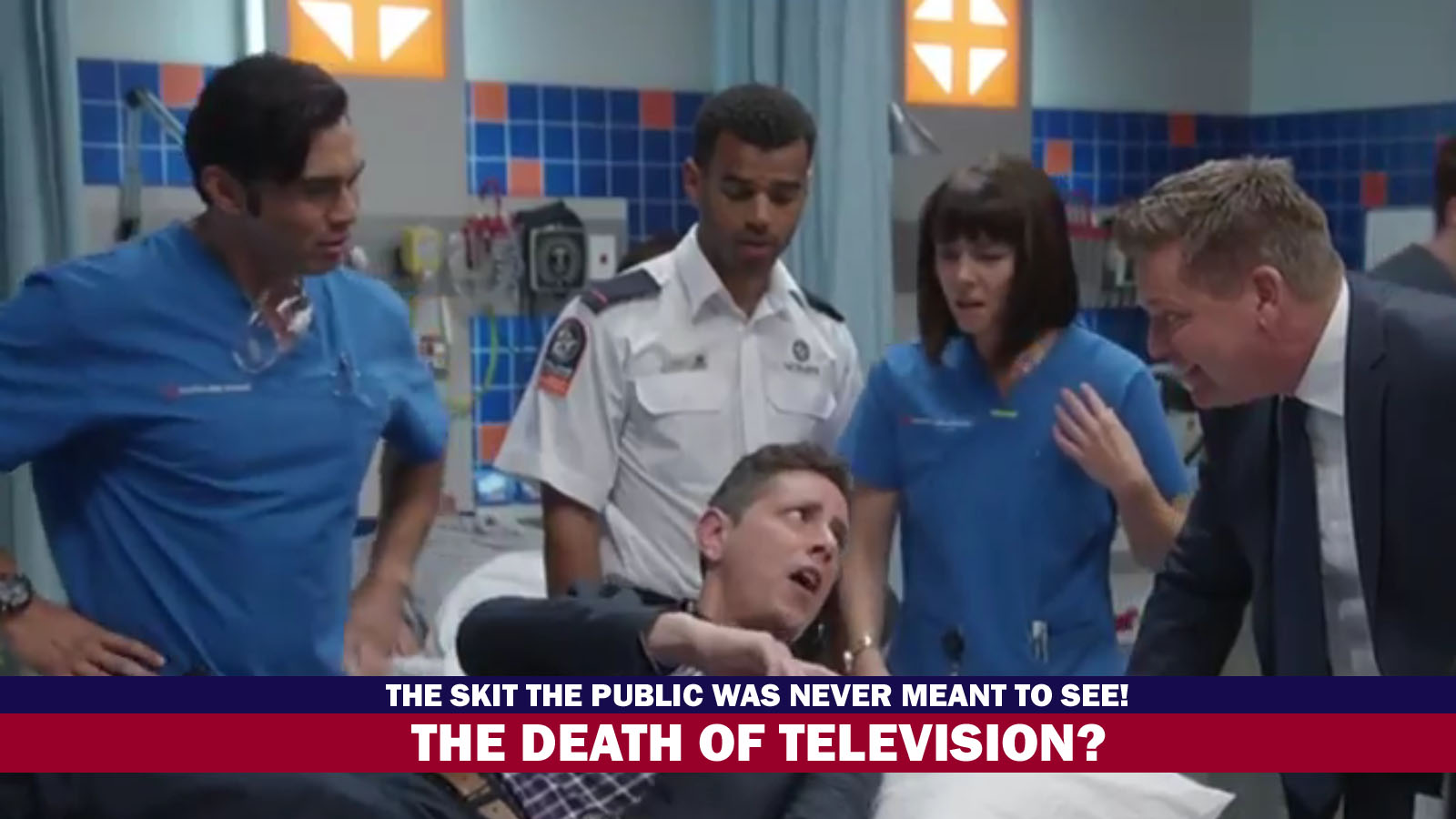The Death of Television? The TV Awards skit the public was never meant to see!